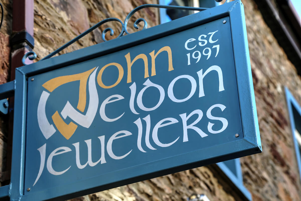 sign outside john_weldon_jewellers_dingle_kerry_1848_Balanced 1200x